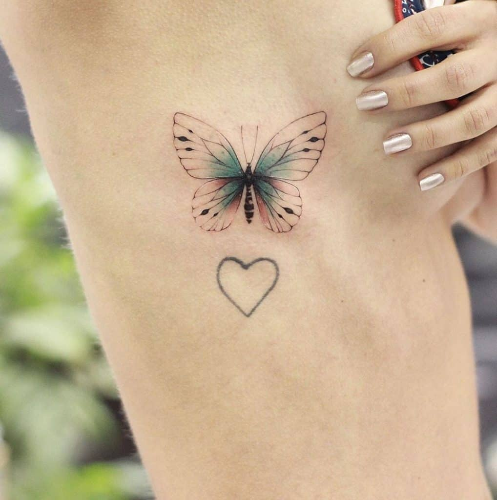 Side Butterfly Tattoo