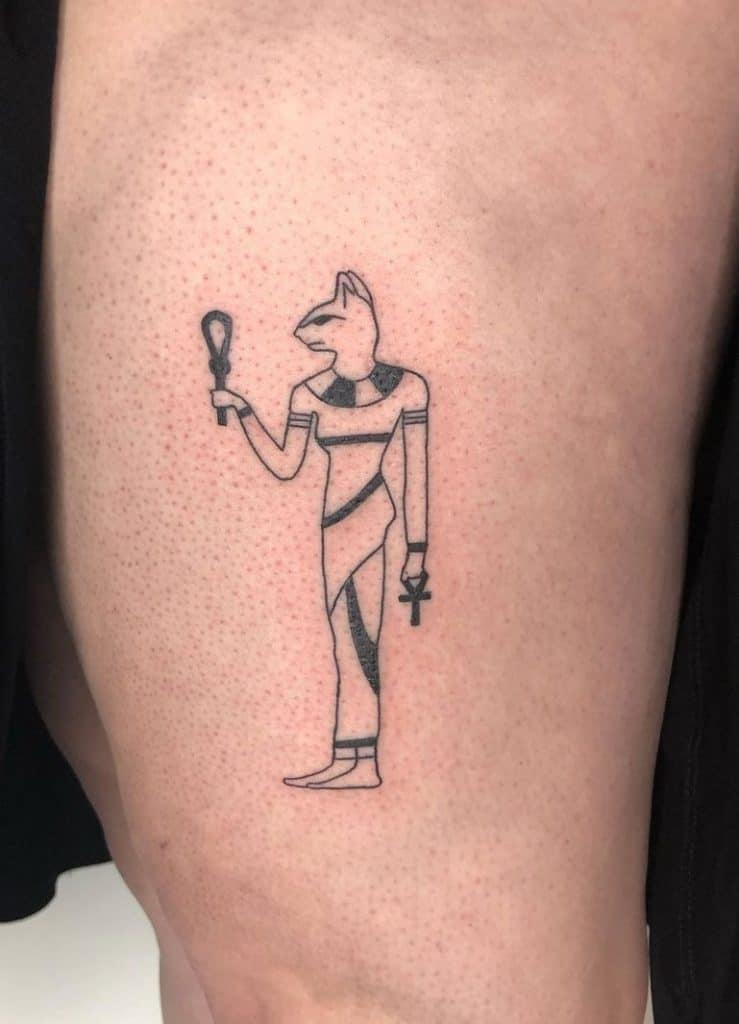 Simple Bastet Tattoo