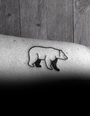Simple Bear Tattoo