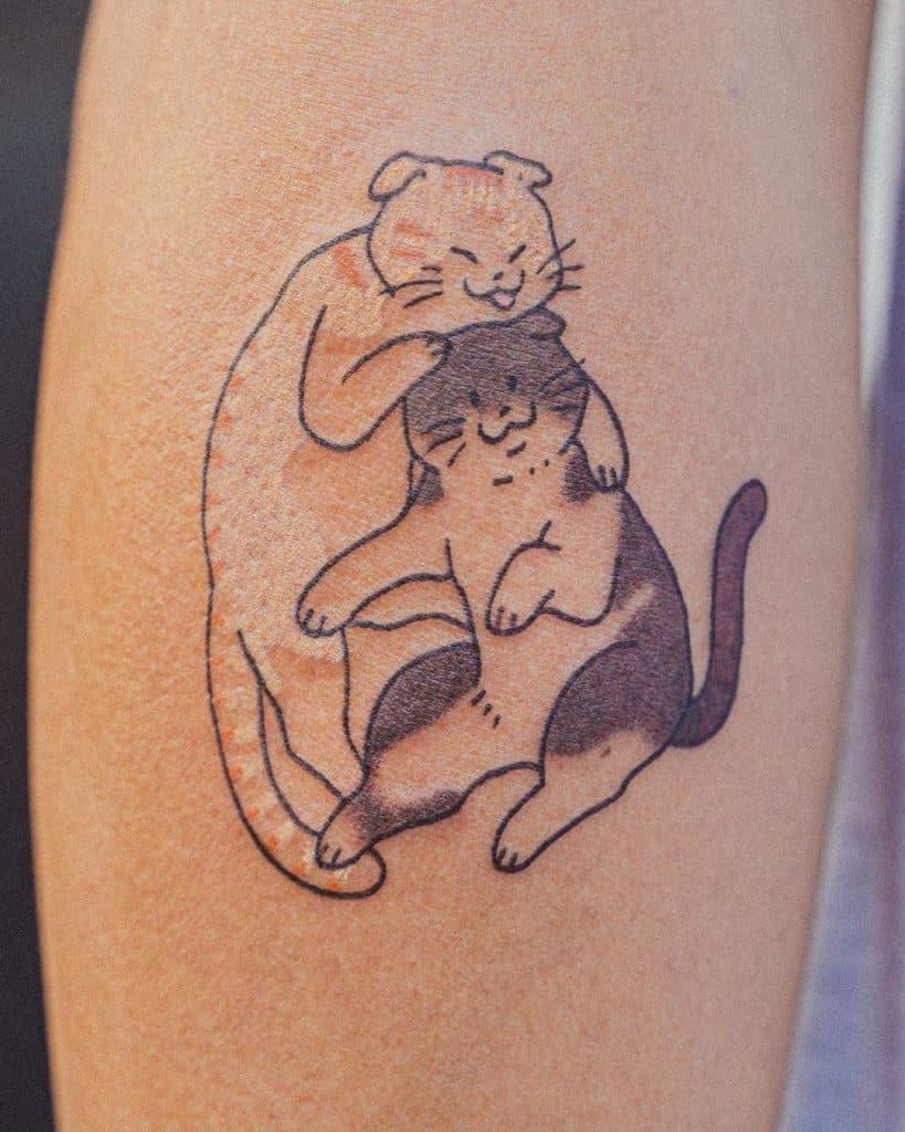 Simple Cat Tattoo