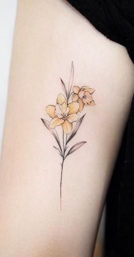 Simple Daffodil Tattoo