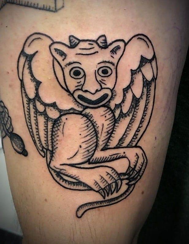 Simple Gargoyle Tattoo