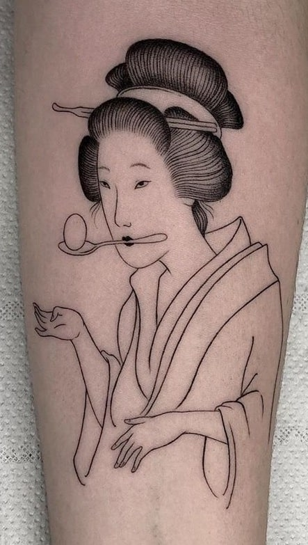 Simple Geisha Tattoo