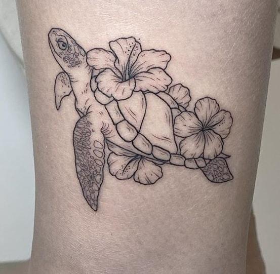 Simple Hibiscus Tattoo