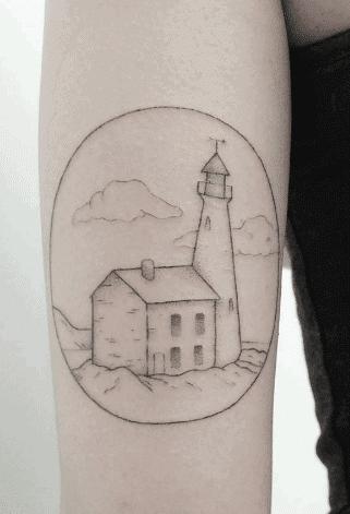 Simple Lighthouse Tattoo
