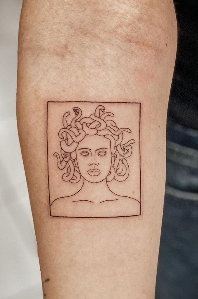 Simple Medusa Tattoo