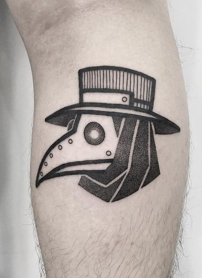 Simple Plague Doctor Tattoo