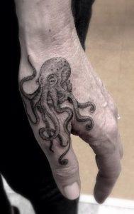 Single Needle Octopus Tattoo