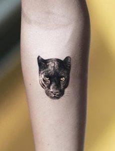 Single Needle Panther Tattoo