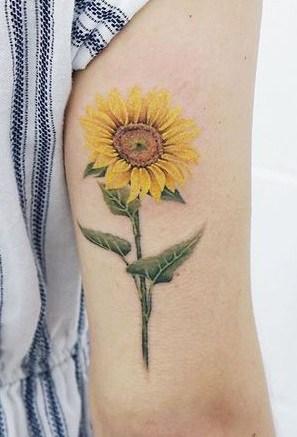 Single Sunflower Tattoos