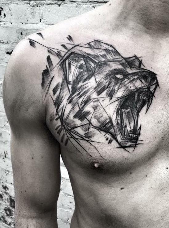 Sketchy Bear Tattoo