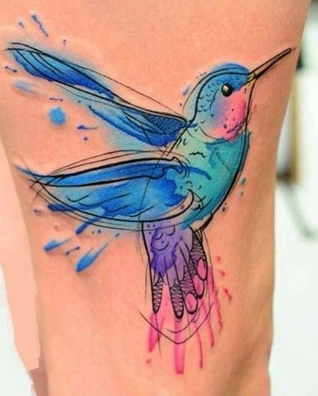 Sketchy Hummingbird Tattoo