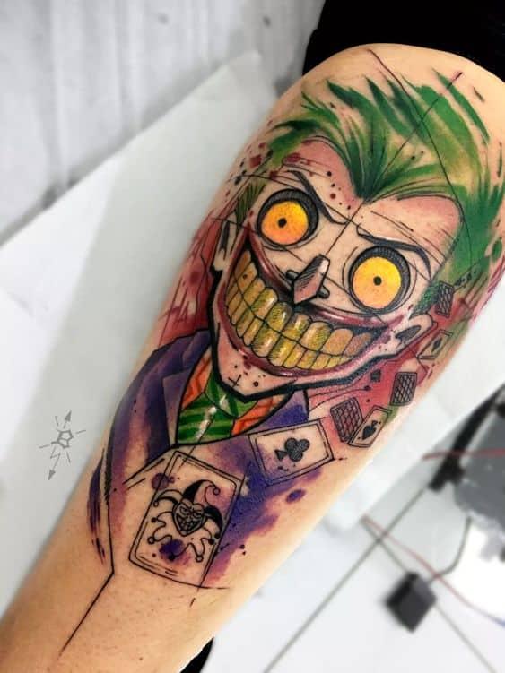 Sketchy Joker Tattoo