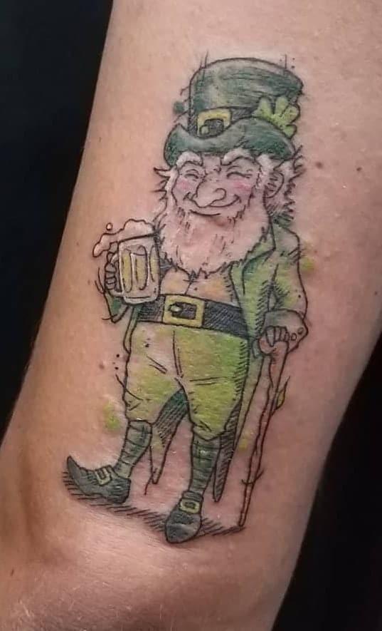 Sketchy Leprechaun Tattoo