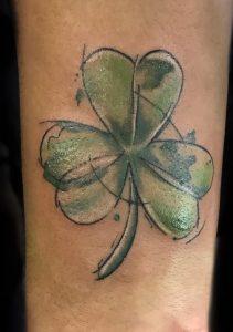 Sketchy Shamrock Tattoo