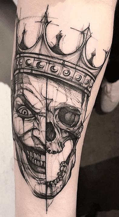 Skull Joker Tattoo