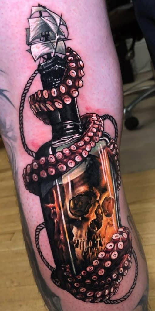Skull and Octopus Tattoo