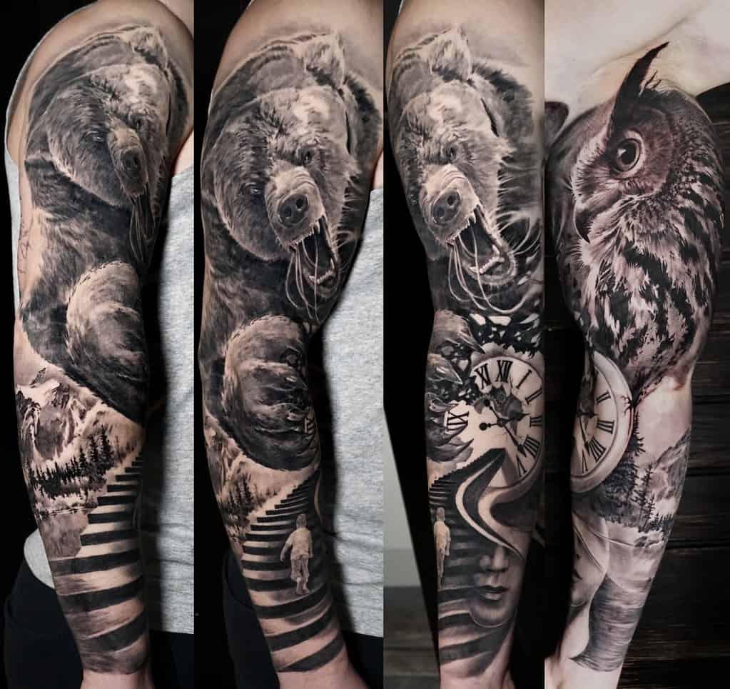 Sleeve Bear Tattoo