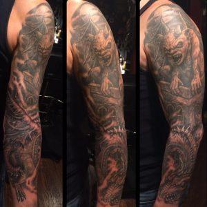 Sleeve Gargoyle Tattoo