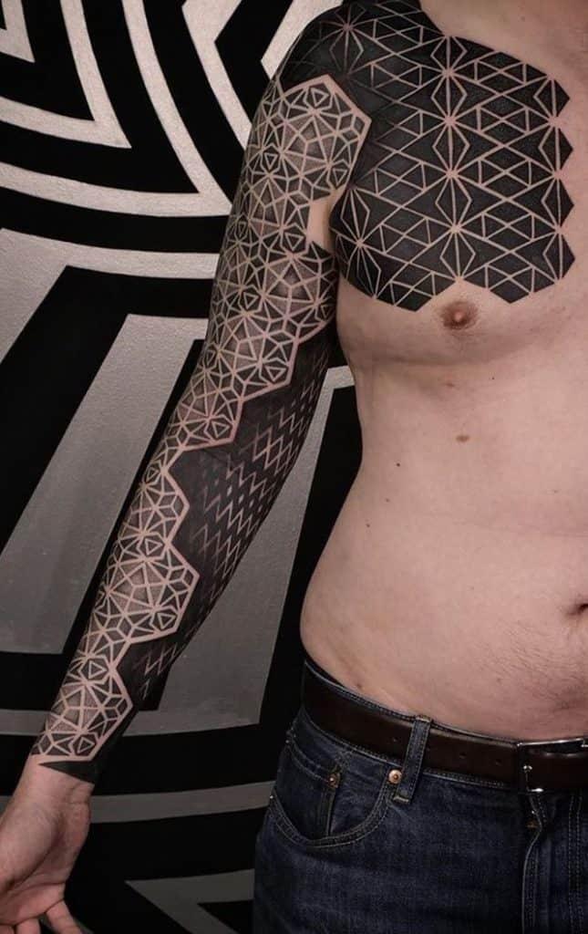 Sleeve Sacred Geometry Tattoo