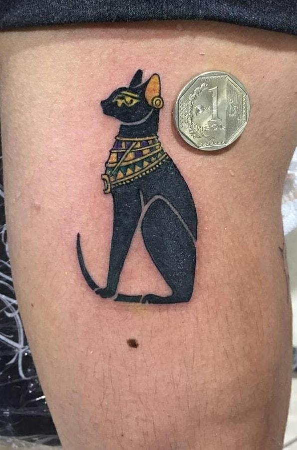 Small Bastet Tattoo