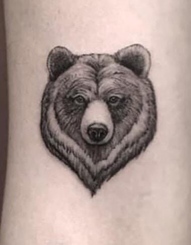 Small Bear Tattoo