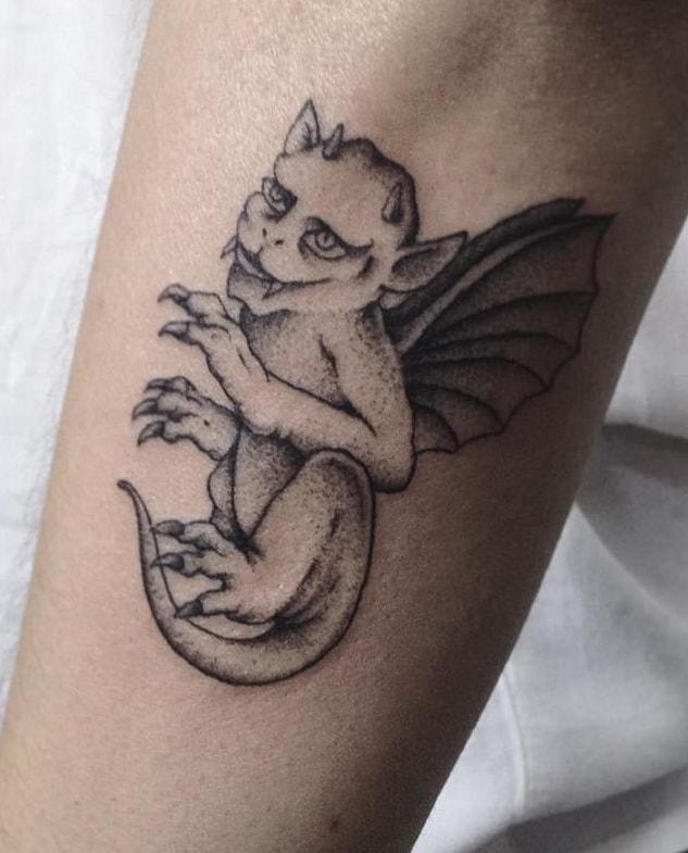 Small Gargoyle Tattoo