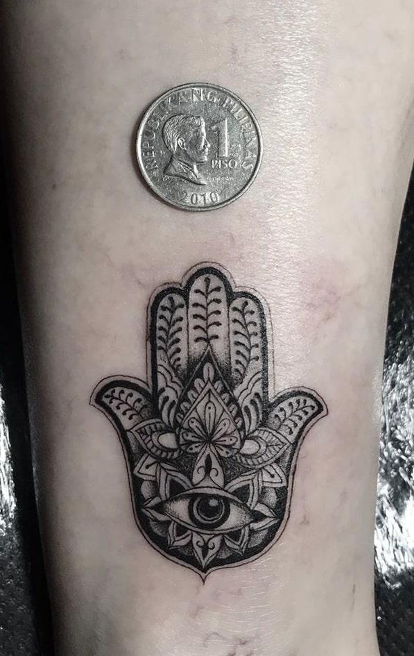 Small Hamsa Tattoo