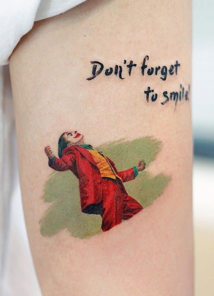 Small Joker Tattoo