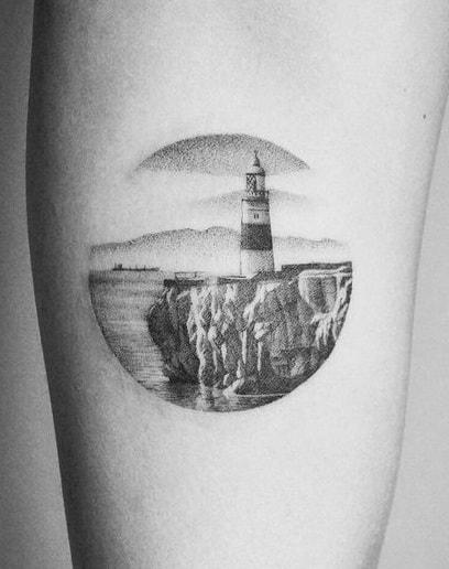 Small Lighthouse Tattoo