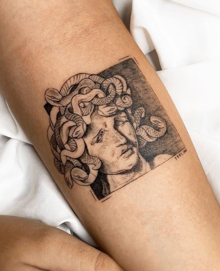Small Medusa Tattoo