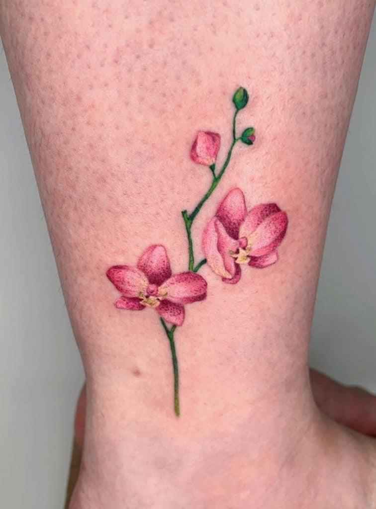 Small Orchid Tattoo