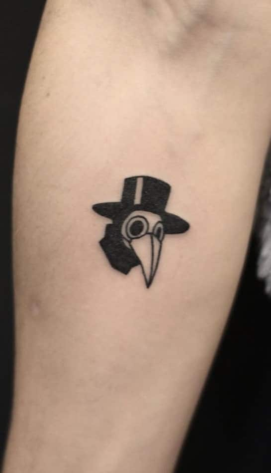 Small Plague Doctor Tattoo