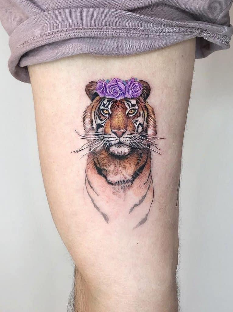 Small Tiger Tattoo