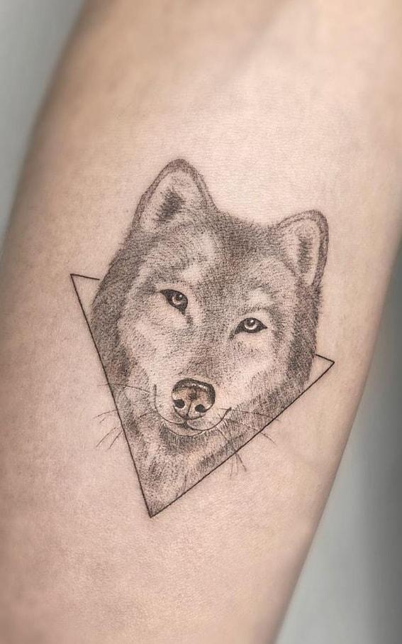 Small Wolf Tattoo