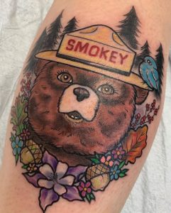 Smokey The Bear Tattoo