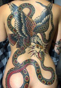 Snake & Eagle Tattoo