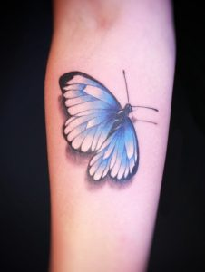 Spring Azure Butterfly Tattoo