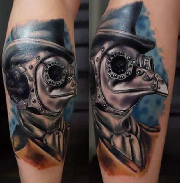 Steampunk Plague Doctor Tattoo