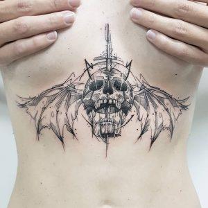 Sternum Skull Tattoo
