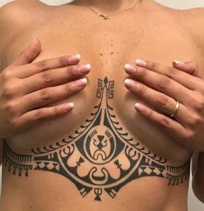 Sternum Tribal Tattoo