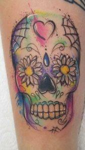 Sugar Skull Sketch Tattoo