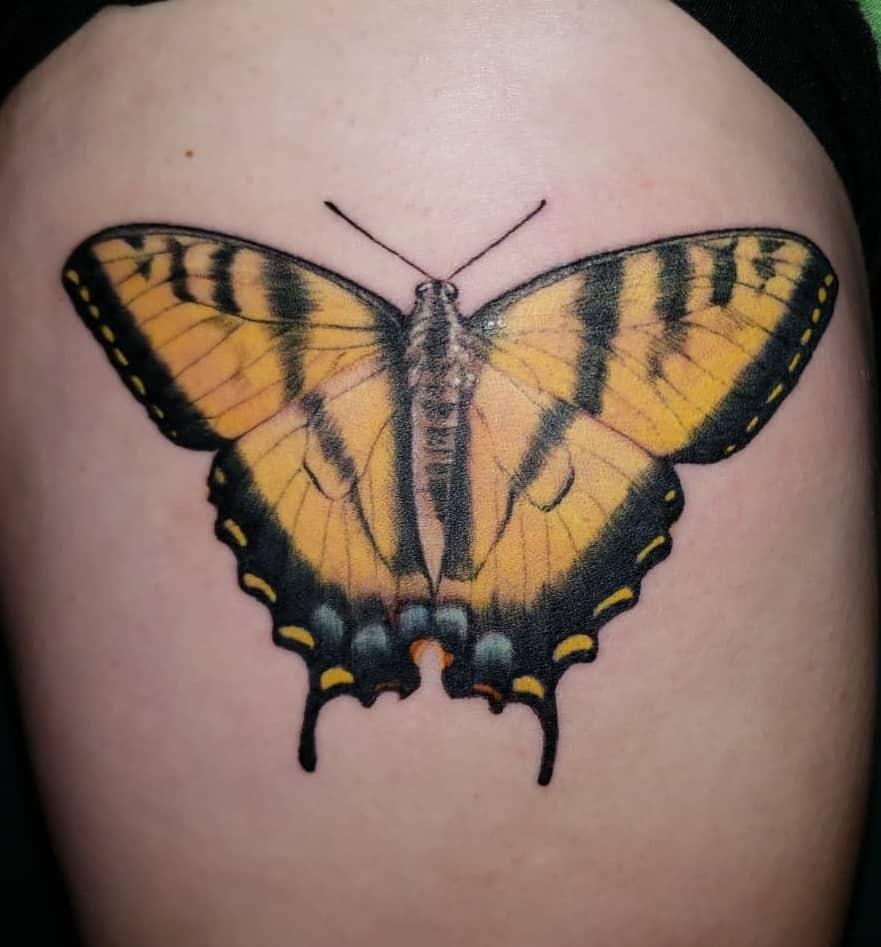 Tiger Swallowtail Butterfly Tattoo