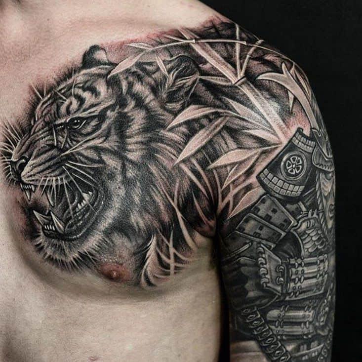 Tiger Tattoo on Chest