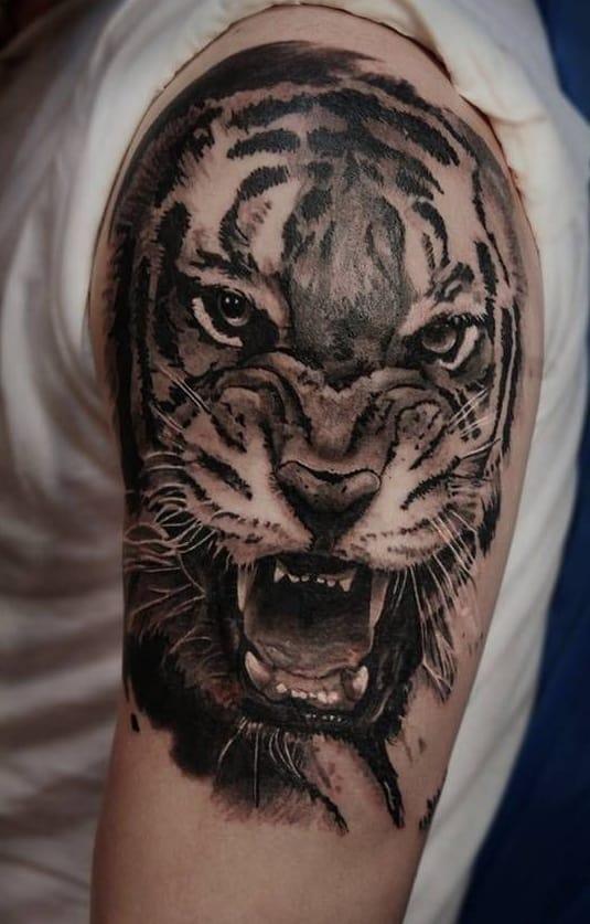 Tiger Tattoo on Shoulder