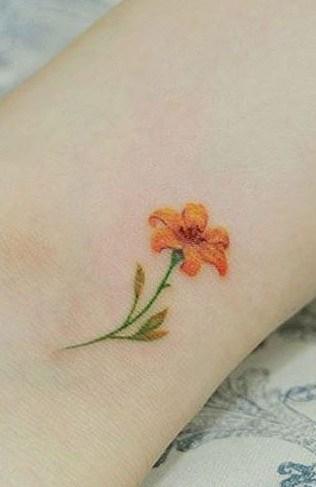 Tiny Daffodil Tattoo
