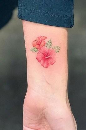 Small Hibiscus Tattoo