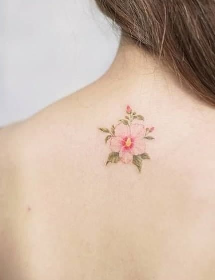 Small Hibiscus Tattoo