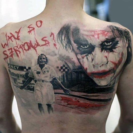Trash Polka Joker Tattoo