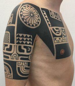 Tribal Blackwork Tattoo